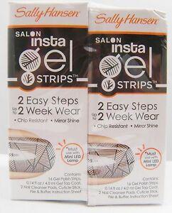 Sally Hansen Salon Insta Gel Strips *Choose your color*Twin Pack*