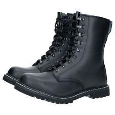 Chaussures coquées Brandit 9008.2 Cuir Bottes Springerstiefel 9 trous Noir