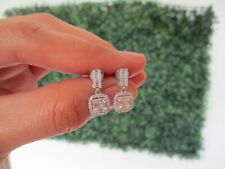 .51 CTW Diamond Dangling Earrings 18K White Gold sep (PRE-ORDER)