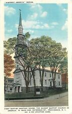 Providence Rhode Island~First Baptist Meeting House~Waterman Street~1920s PC