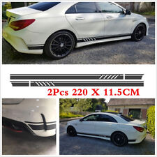 2pcs Car Body Doors on both Sides Stripes Decals Sticker Black Edition 1 Style
