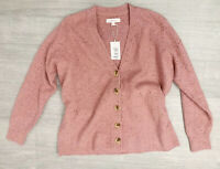 Per Una By M&S Dusky Pink Thick Cardigan Size Large NEW Long Sleeves Tye
