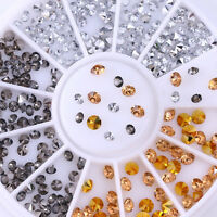 3D Nail Art Rhinestones Studs Acrylic Tips Stickers Decoration in Wheel Manicure
