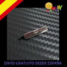 Tapon Cubierta Tapa Para Puerto Carga Usb Polvo Agua Galaxy S5 Plateado plata