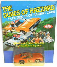 1981 Ideal Toys HO Slot Car Dukes of Hazard Dodge Rebel Charger General Lee Rare