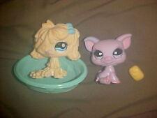 Littlest Pet Shop Yellow Mop Sheepdog Komondor # 1257 Pig # 1256 Walmart exc