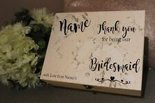 Thank you for being our Bridesmaid, Personalised Bridesmaid Sticker for DIY Gift