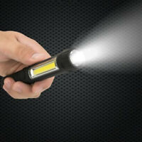 Magnetic LED COB Inspection Lamp Work Light Rechargeable Pocket Torch Flashlight