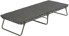 Deluxe Cot Folding Steel Frame Foam Mattress Pad Coil Bed-Like Feel Camping NEW