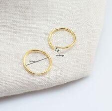 18k Gold Filled Plain Sleeper Earrings, No Hinged- 14 mm