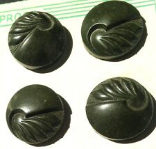 12 Vintage 1940s Bakelite 1.8cm Racing Green VERY Deco buttons  Made in England