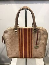 Brahmin Lizard Embossed Leather Satchel Bag
