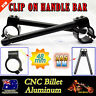 "48mm Motorcycle Black Clip-On 7/8"" Handlebar Fork Tube For Cafe Racer Universal"