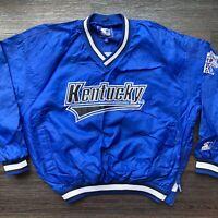 Starter Kentucky Wildcats Vintage Pullover Windbreaker Jacket Men's XL Blue 90's