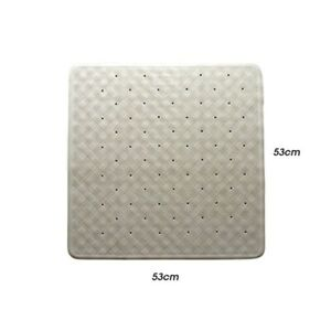 Supertex Home Rubber Shower Mat With Suction Pads 530x530mm White GTRUBERWHITSHW