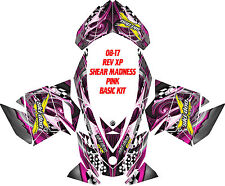 SKI DOO SNOWMOBILE WRAP REV,XP, XR,XS,XM MXZ  99-16 SHEAR MADNESS DECAL  STICKER