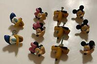Lot of 11 Disney 3D Cabinet Pulls Knob Handle Mickey Minnie Pluto Donald EUC