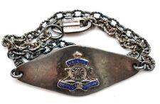 Vintage Ecco Enamel Bracelet Sterling Silver UBIQUE QUO FAS ET GLORIA DUCUNT