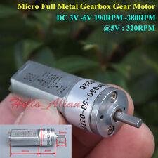 DC 5V 6V 380RPM Mini Full Metal Gearbox Gear Motor Speed Reducer Motor Robot DIY