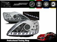 FARI ANTERIORI HEADLIGHTS LPFO37 FORD FOCUS II 2008 2009 2010 DAYLIGHT CROMO