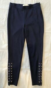 Michael Kors Womens Lace-Up Skinny Pants Leggings Sz P $110 New