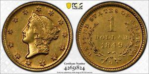1849-O G$1 Gold Dollar PCGS AU53