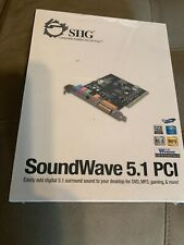 NEW SIIG SoundWave 5.1 PCI (IC510012) Sound Card, Digital 5.1 Surround Sound