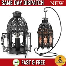 Vintage Iron Frame Natural Crystal Salt Rock Lamp Air Purifier Night Light Decor