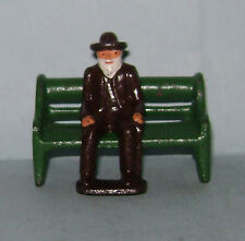 """Vintage Grey Iron """"Old Man Sitting On Bench""""  Near Mint Condition FREE SHIPPING"""