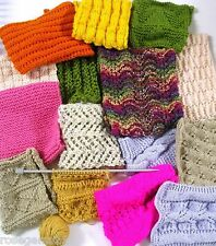 SCARVES GALORE -17 Knit Patterns 8 & 12 ply + Easy Shawl - Knitting Booklet BK21