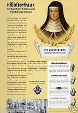 Klosterfrau XL Reklame 1956 Nonne Klosterbräu Kloster Melissengeist Köln Werbung