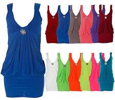 New Womens Plus Size Diamonte Broach Detail Drape Evening Party tulip dress
