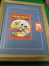 Framed-DISNEY 6 Cent Stamp w. MICKEY MOUSE Mag Cover #7..............SALE