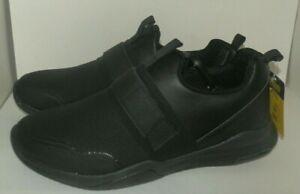 New Mens size 10 TredSafe Enduropro Black Shoes Anti Fatigue Slip-Resistant