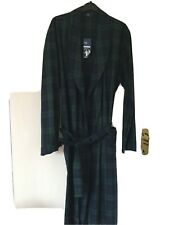 Marks And Spencer Mens Cotton Blend Tartan Dressing Gown (S) New