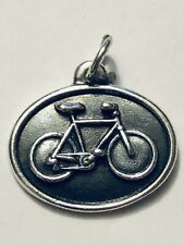 James Avery Retired Rare Silver Bicycle Bike Disk Charm