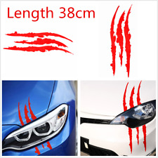 Red A Pair Scratch Stripe Stickers Car Racing Headlight Vinyl Decal Waterproof