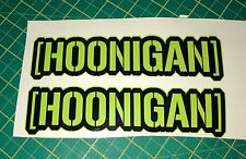 2 x HOONIGAN 120mm Car Decal Vinyl Sticker JDM EURO DUB Ken Block Free U.K. Post