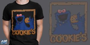 Krümelmonster T-Shirt keks kekse cookie sesam ernie bert monster strasse #Cookie