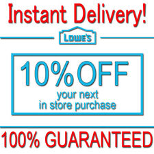 1x Lowes 10% OFF Discount Fastest DELIVERY-COUPON1 INSTORE ONLY EXP 𝟕/𝟏𝟓