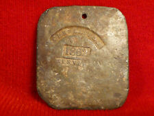 New ListingRare Civil War Era 1862 Charleston S.C. Plantation Workers Servant Tag Csa