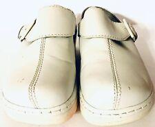 Klogs Austin Women's  Leather Mule Slip On White 7W Slip Resistant Non Marking