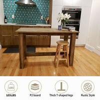 Rustic Counter Height Dining Table, Wooden Table for Kitchen, Living Room,Office