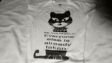 OSCAR WILDE cat quotes BE YOURSELF tee girl t-shirt camiseta rare limited NO DVD