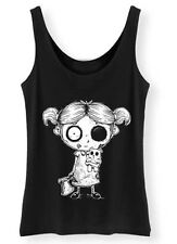 Undead Girl Tank Top ladies Womens Goth Rock Undead Corpse Nightmare Teddy Vest