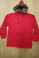 Guess Giubbotto Uomo Taglia 2XL Rosso Giacca Cappotto Cappuccio Giubbino Inverno