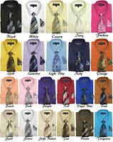 New Men's Dress Shirt w/ Matching Tie and Handkerchief Set  SG-21B