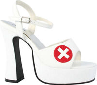 Morris Costumes Women's Cross Insignia Heel Nurse Sexy Shoe White Red 7. HA12WT7
