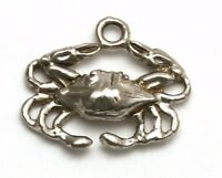 Crab Bracelet Charm Sterling Silver Zodiac Cancer Astrology