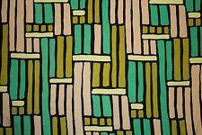 Greens Brown Geometric ITY Print #153 Stretch Polyester Lycra Spandex Fabric BTY